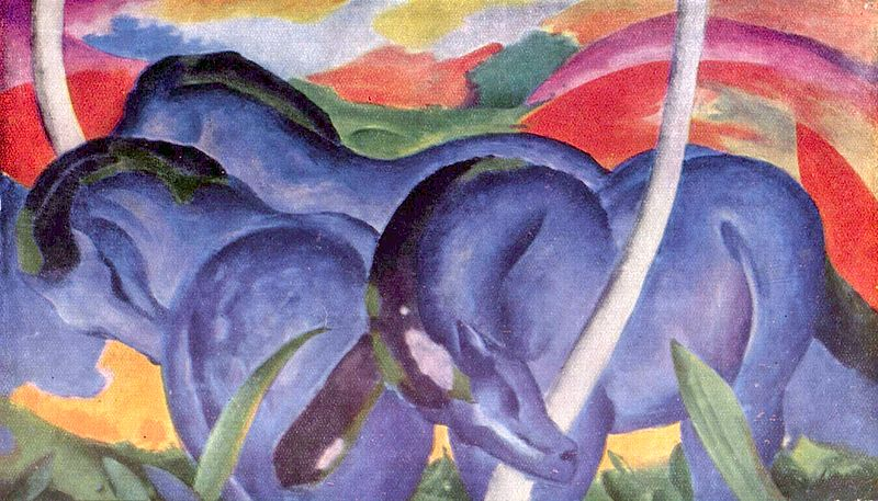 Franz Mark -  Great Blue Horses