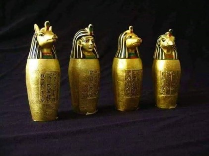 ancient Egyptian canopy jars